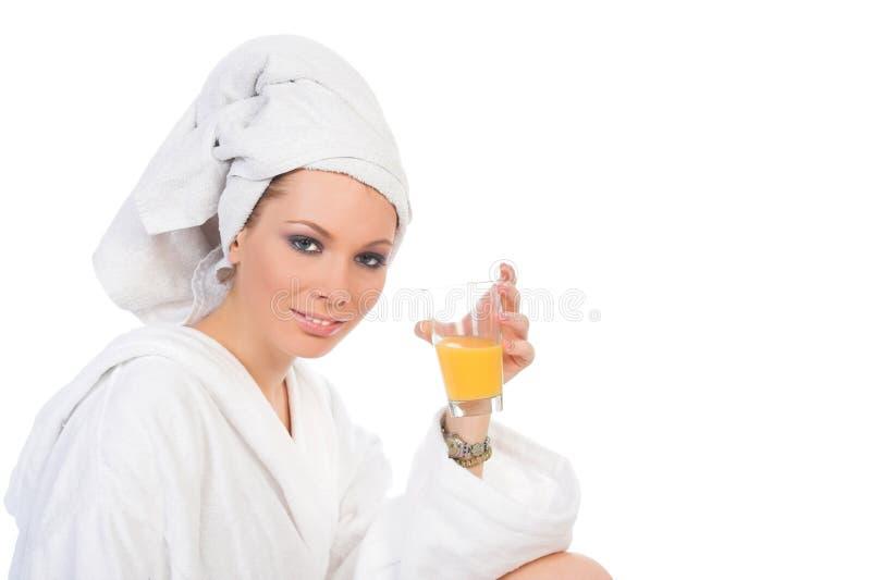 Blondie Badekurort und gesunde Getränke stockfotografie