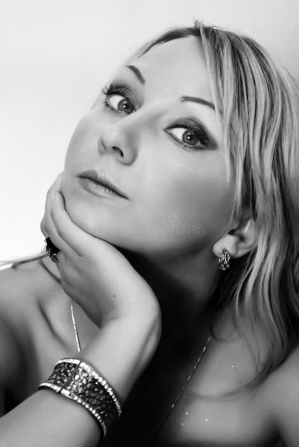 blondieflicka fotografering för bildbyråer