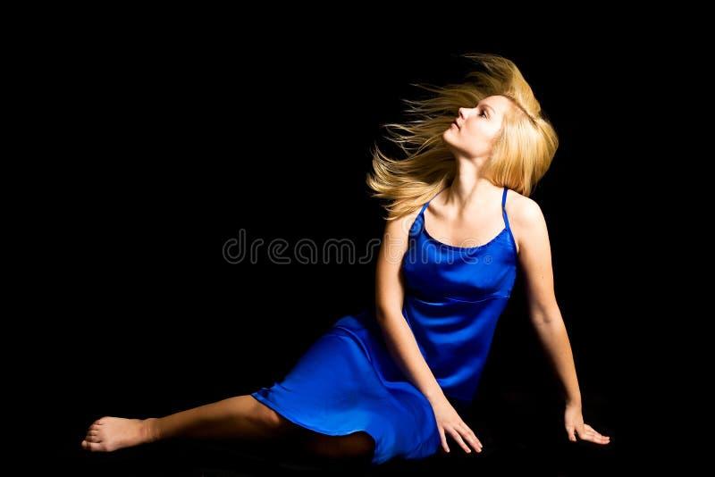 blondieflickabarn royaltyfri foto