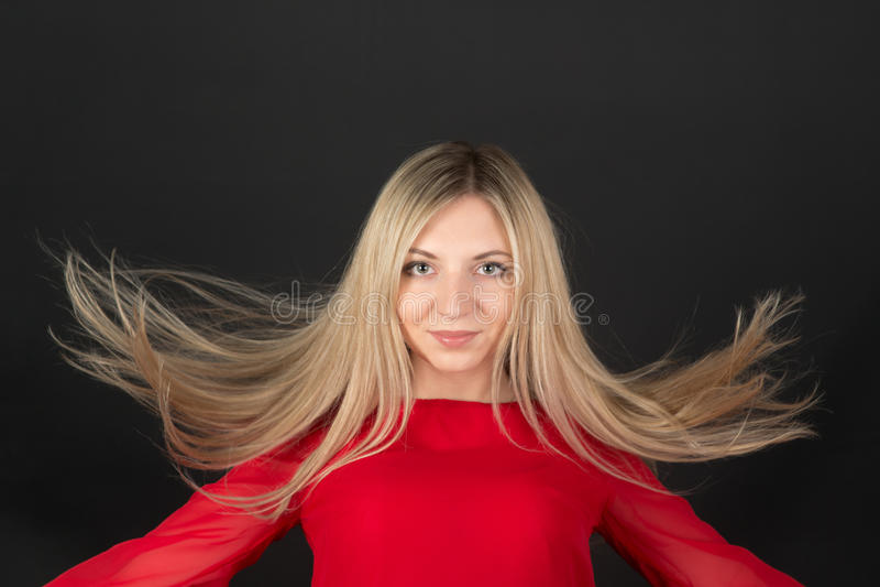 Blondine mit dem langen Haar lizenzfreies stockbild