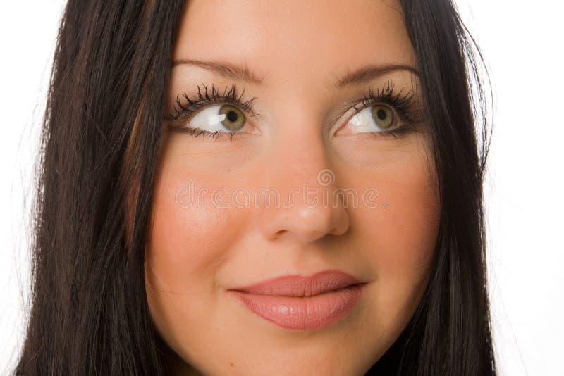 Blondine recht aufwerfen trennte lizenzfreies stockbild