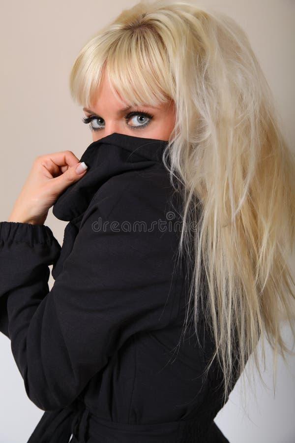 Blondine und Augen stockbild