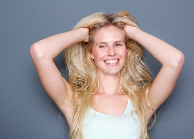 Blonds heeft meer pret royalty-vrije stock foto's