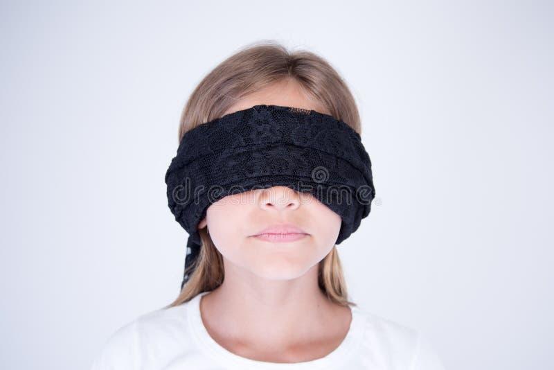 Blondy小女孩眼罩黑色 库存图片