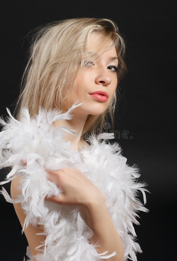 blondy纵向 免版税图库摄影