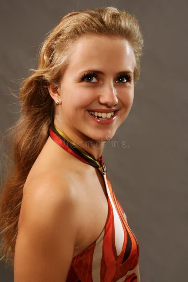 Blondy feliz foto de stock royalty free