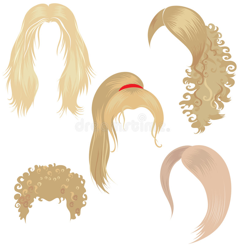 blondy utforma för hår vektor illustrationer
