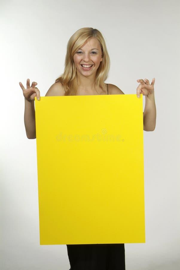 blondynów szyldowy kobiety kolor żółty obraz royalty free