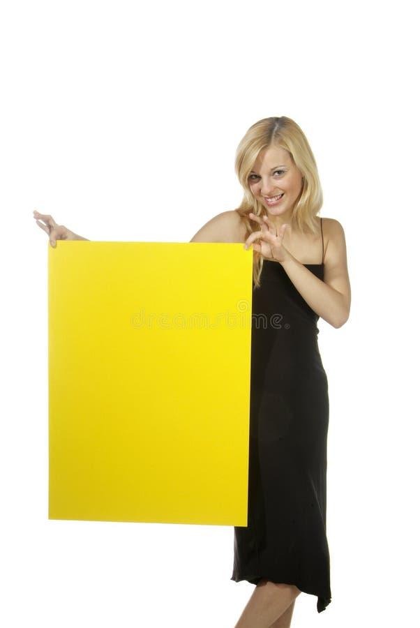 blondynów szyldowy kobiety kolor żółty obrazy royalty free