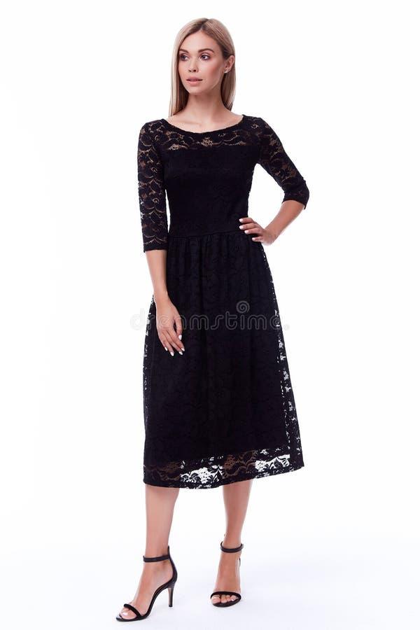 Blondyn kobiety odzieży kodu ubioru biurowego czarnego stylu ładny beaut fotografia stock