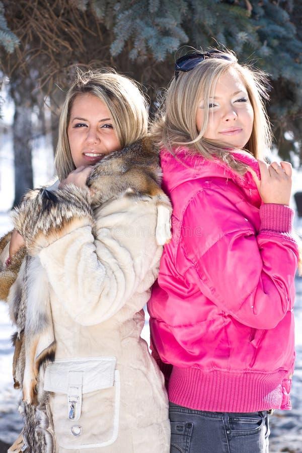 blondynek dziewczyny dwa fotografia royalty free