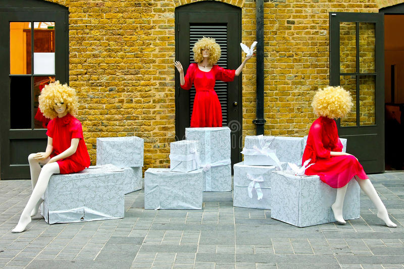 blondynek mannequins fotografia royalty free