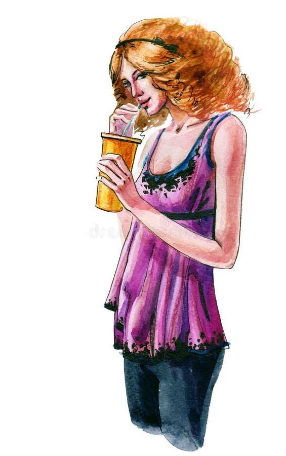 Download Blondynka ilustracji. Ilustracja złożonej z zdrowy, twarz - 53780965