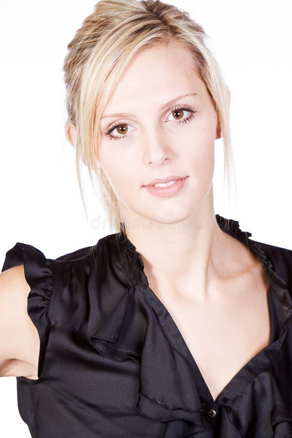 blondynka atrakcyjny czarny wierzchołek zdjęcie stock