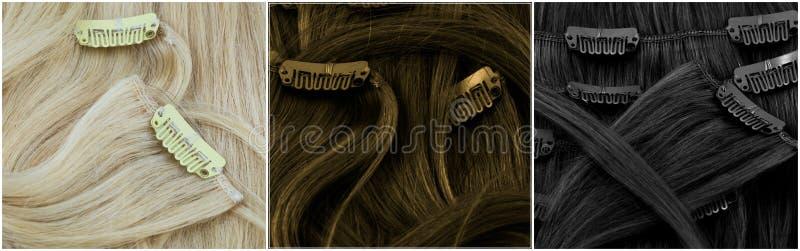 Blondynka, brown i czarny w rozszerzeniach obrazy stock