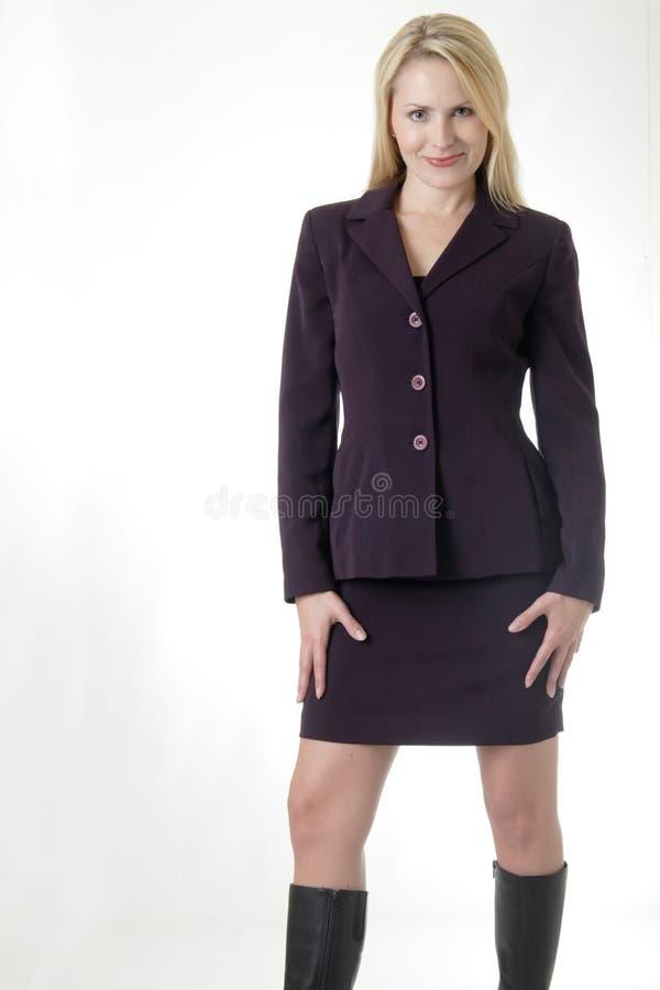 blondynka interesy ładny garnitur. fotografia royalty free