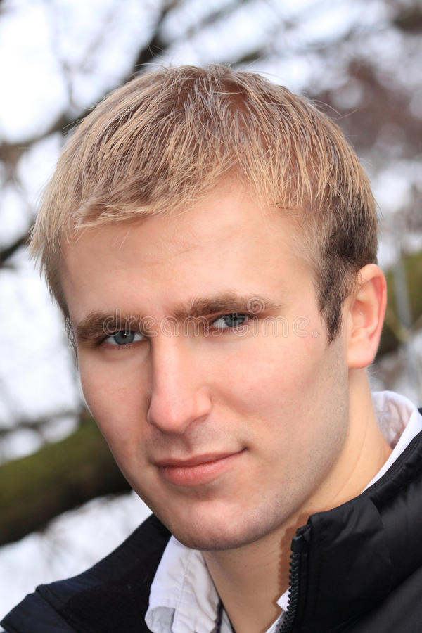 blondynka mężczyzna zdjęcie royalty free