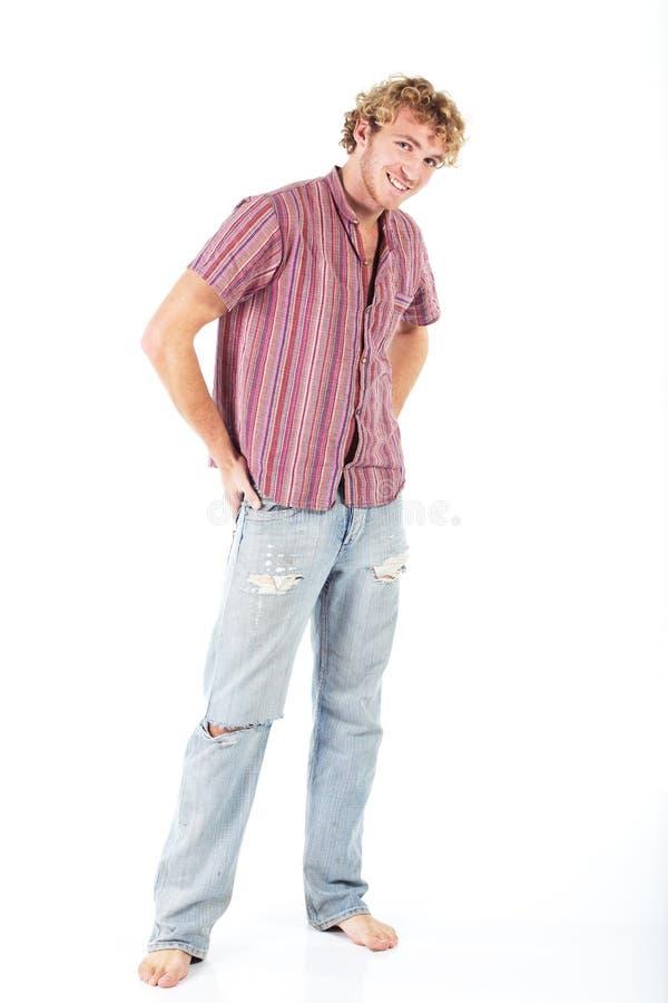 Download Blondynka młody człowiek obraz stock. Obraz złożonej z hairball - 13329449