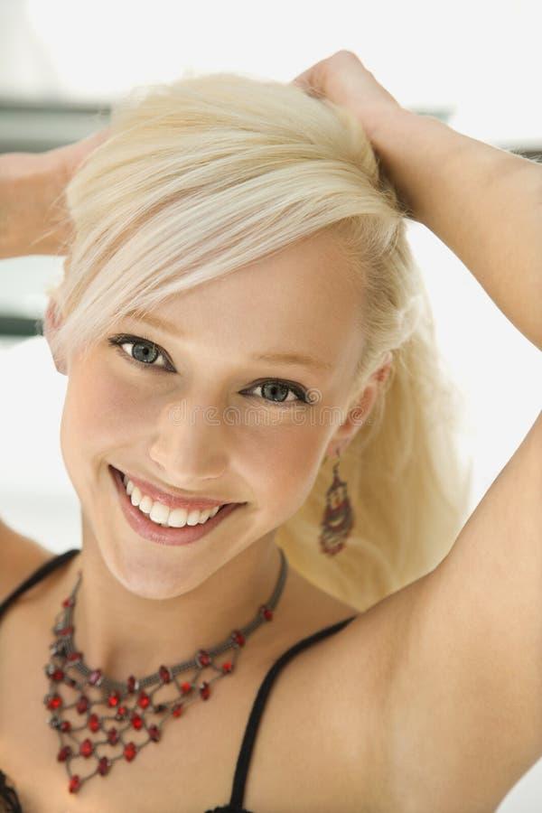 blondynka portret kobiety obraz royalty free