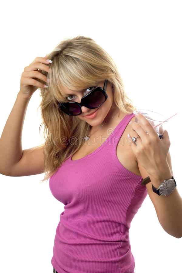 blondynka seksowna fotografia stock