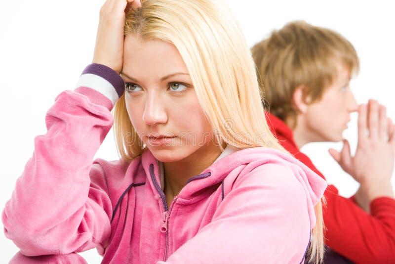 blondynka smutna zdjęcie stock
