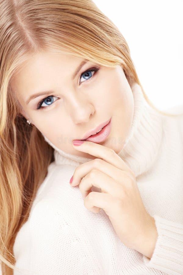 blondynka szczęsliwa obrazy stock