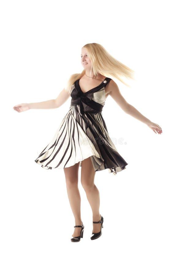 blondynka taniec zdjęcia stock