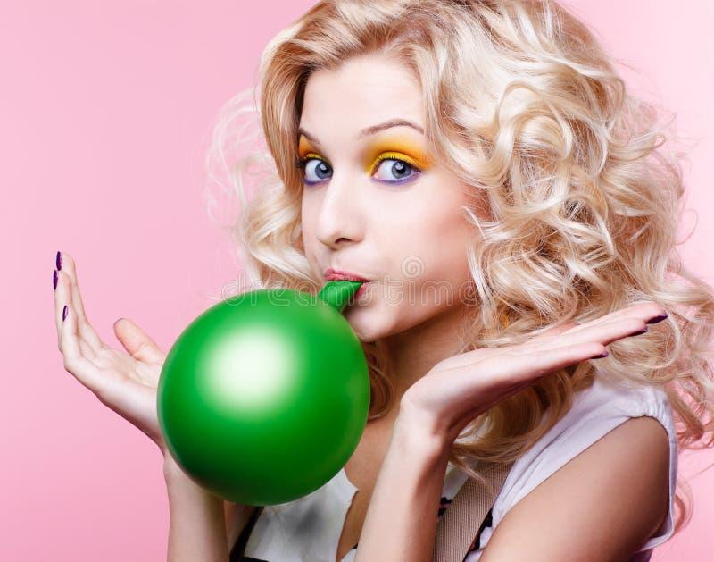 blondynki balonowa dziewczyna fotografia royalty free