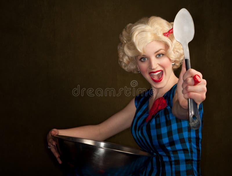 blondynki dosyć retro kobieta fotografia royalty free