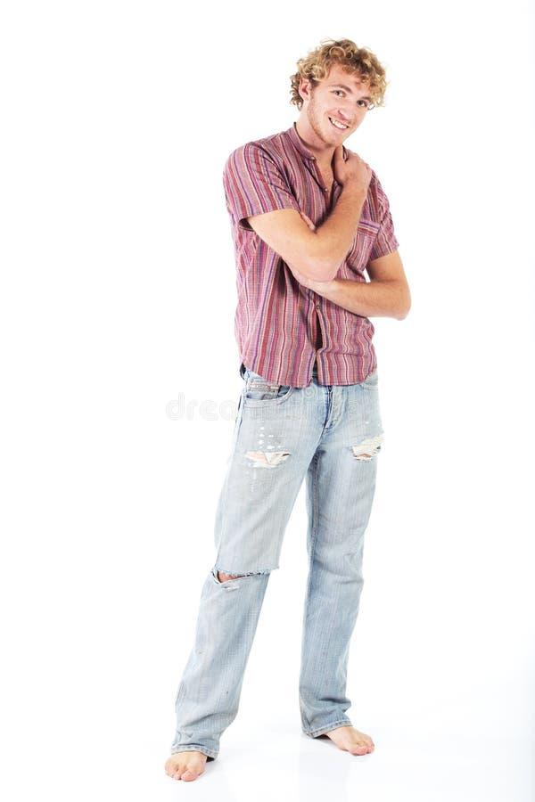 Download Blondynki Mężczyzna Potomstwa Zdjęcie Stock - Obraz złożonej z blondyny, błękitny: 13329450