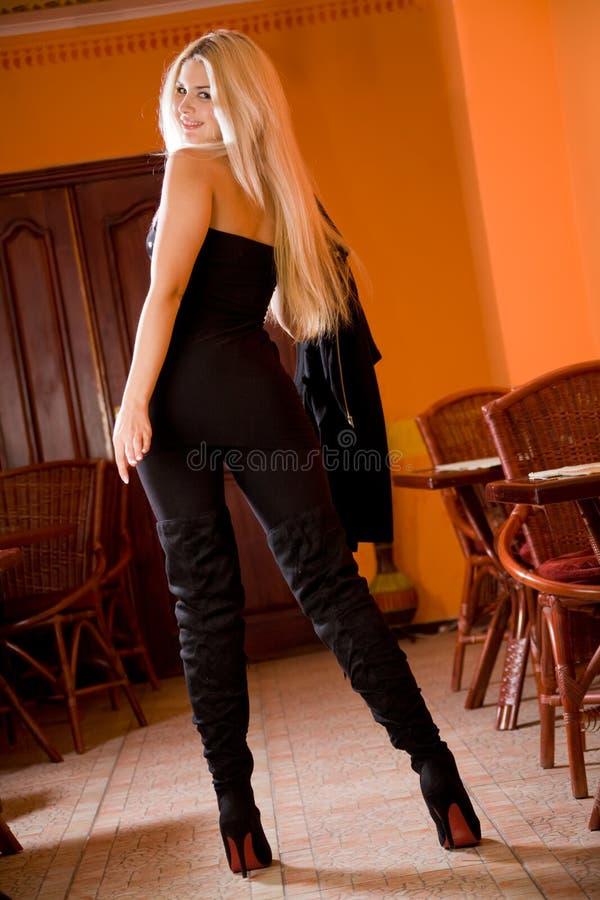 blondynki modny cukierniany elegancki zdjęcia stock