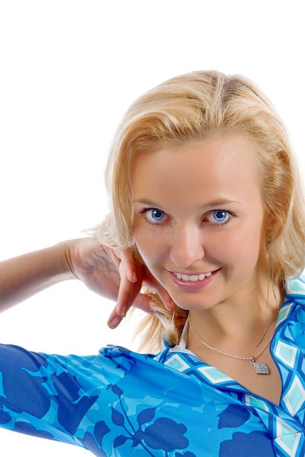blondynki portret dziewczyny zdjęcia stock