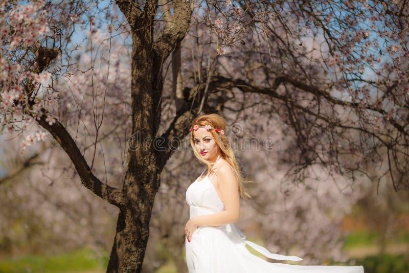 Blondynki romantyczna kobieta fotografia stock