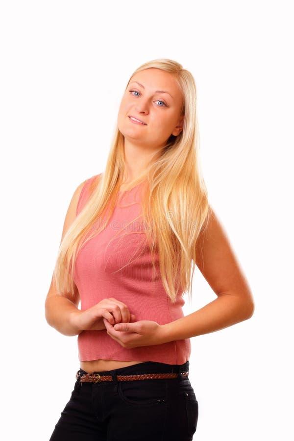 Download Blondynki sportowa kobieta obraz stock. Obraz złożonej z jednostka - 27602655