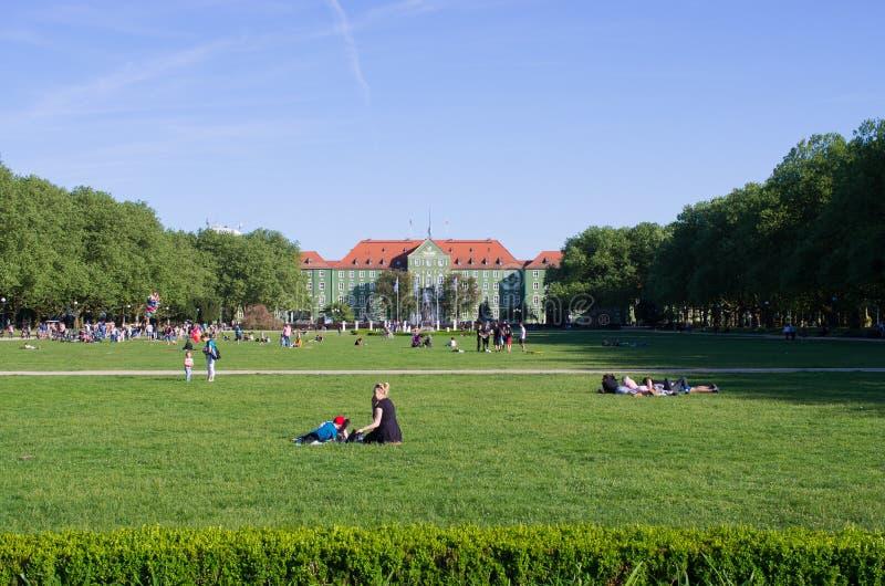 Blonia em Szczecin, Polônia imagem de stock