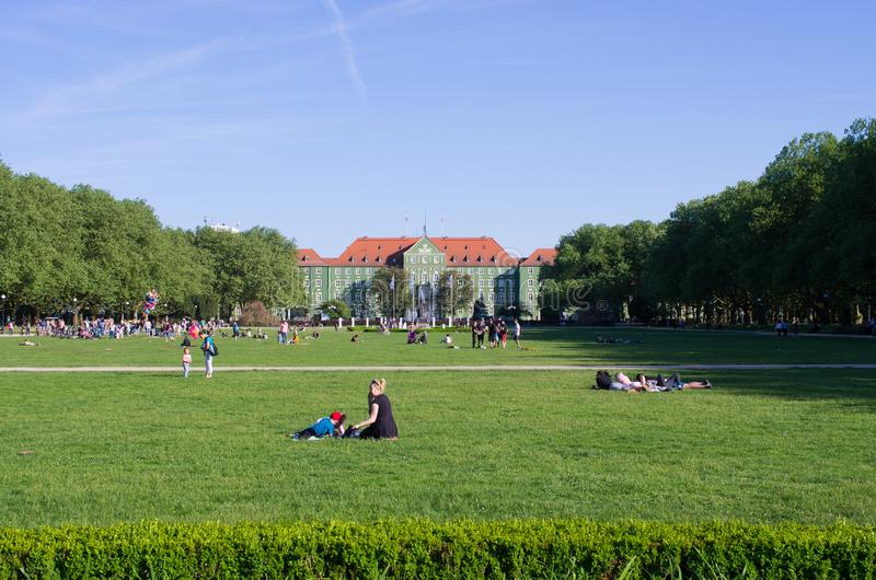 Blonia en Szczecin, Polonia imagen de archivo