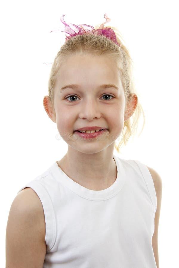 blont flickaståendebarn royaltyfri foto