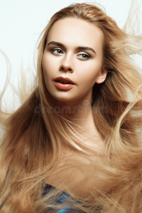 blont hår long royaltyfria bilder