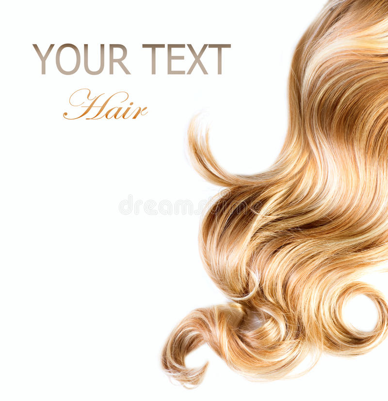 blont lockigt hår royaltyfri fotografi