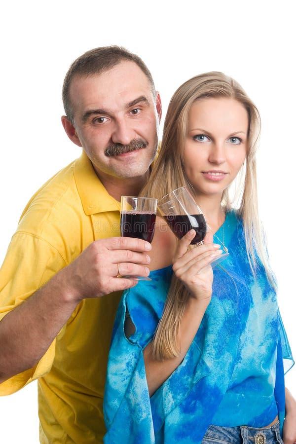 blont mankvinnabarn arkivfoto