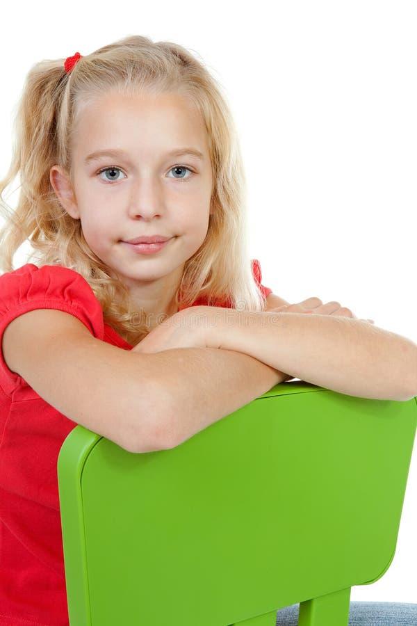 blont posera för flicka fotografering för bildbyråer