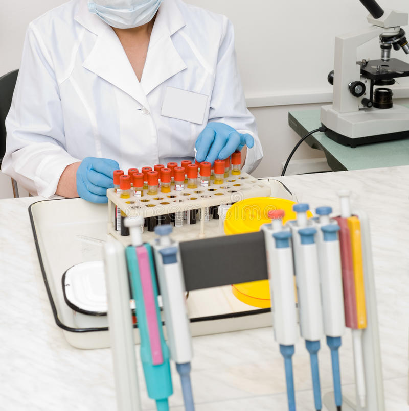 Blood analysis procedure royalty free stock photo