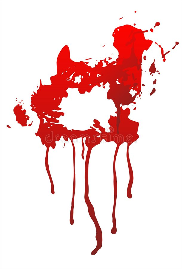 Download Blood and blots stock vector. Image of splatter, danger - 3278326