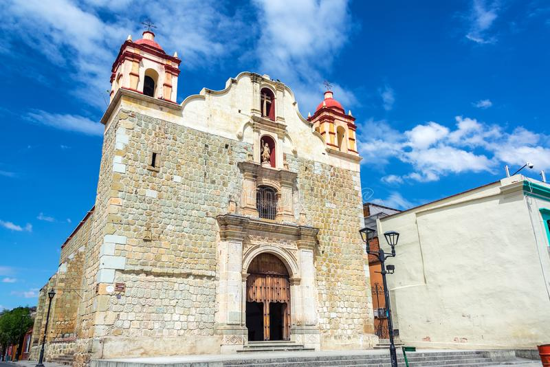 Blood of Christ Church. Sangre de Cristo church in Oaxaca, Mexico royalty free stock images