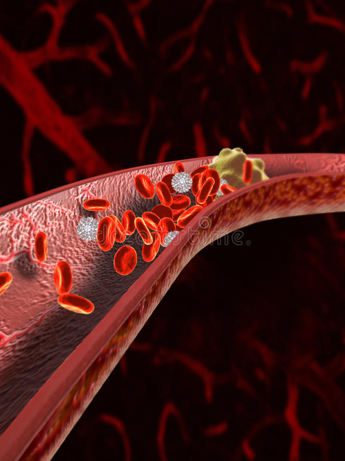 Download Blood Clot stock illustration. Image of bloodstream, cell - 22381492