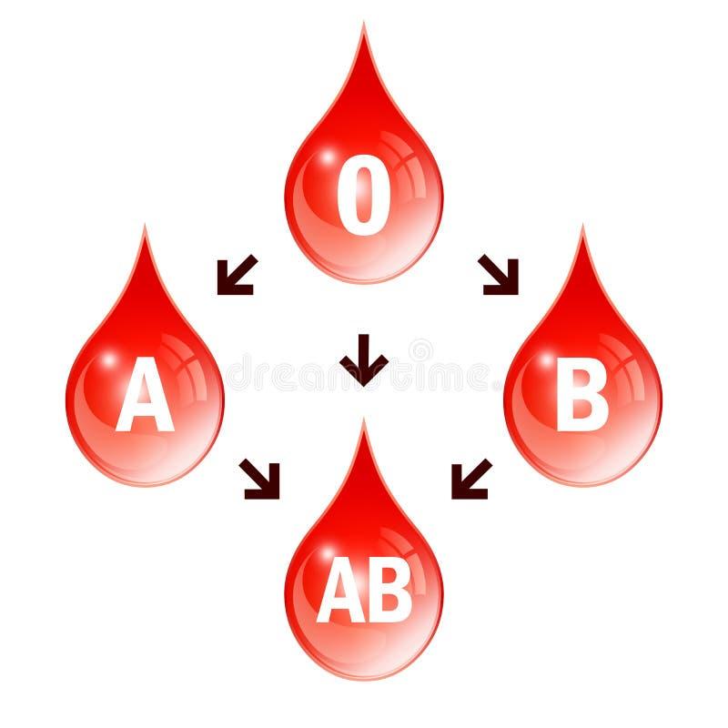 Blood compatibility scheme stock illustration