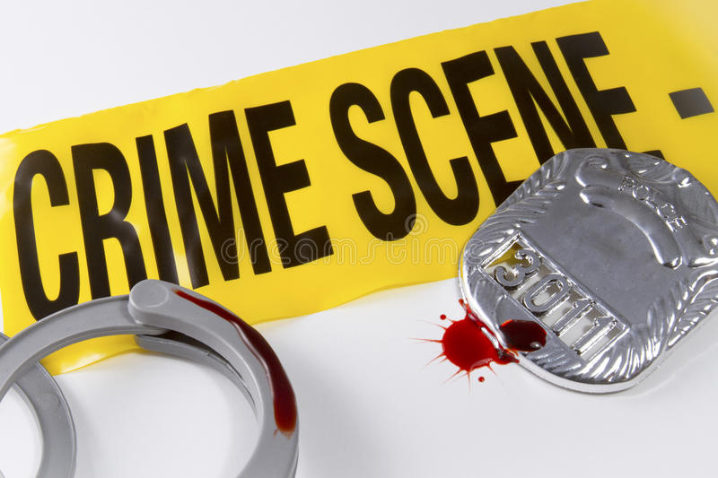 Blood on the Crime Scene stock photos