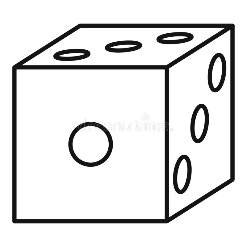 Blood dice icon, outline style. Blood dice icon. Outline blood dice vector icon for web design isolated on white background vector illustration