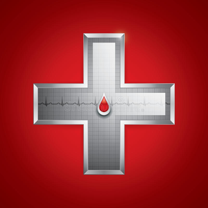 Download Blood donation stock vector. Image of cross, grid, help - 25004368