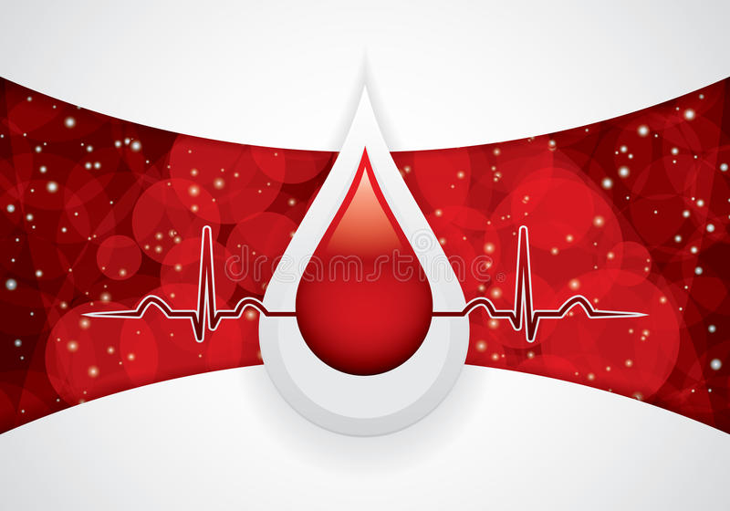 Blood donation stock illustration